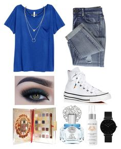 """Blue."" by kyra-leee on Polyvore featuring Converse, Too Faced Cosmetics, Disney, Vince Camuto, Apple & Bears and CLUSE"