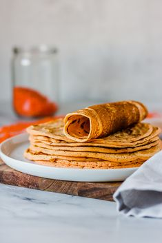 3-ingredient tortillas made from red lentils #vegan #lentils #lowcarb #tortillas