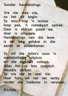 Afrikaans Quotes, Poems, Projects, Bullet Journal, Van, Log Projects, Blue Prints, Poetry, Verses