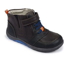 Kai by See Kai Run – Ian in Brown. Our boys' brown pebbled-leather boot is back just in time for cooler weather. The rubberized toe and heel provide extra protection against the elements. Toddler Shoes, Baby Shoes, Toddler Stuff, Back To School Shoes, Kids Boots, Brown Leather Boots, Waterproof Boots, Winter Boots, Big Kids