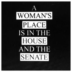 A Woman's Place is in the House and the Senate - Sweatshirt by Jaymerdoo on Etsy