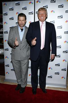 Donald Trump and All-Star Stephen Baldwin on the Celebrity Apprentice Premiere Red Carpet @ Trump Towers. #CelebApprentice
