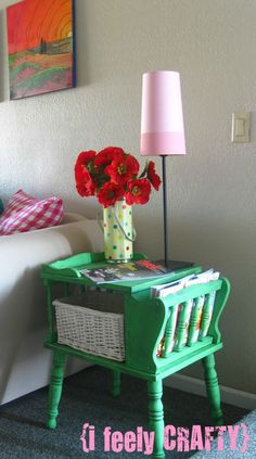 I feely CRAFTY: Antibes Green Vintage Telephone Table: Before & After