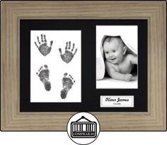 BabyRice-Kit para impresión DE MANOS Y PIES DE BEBÉ con marco efecto roble con paspartú gamuza sin tinta 0-3años, color negro  ✿ Regalos para recién nacidos - Bebes ✿ ▬► Ver oferta: http://comprar.io/goto/B00F8BL7SU