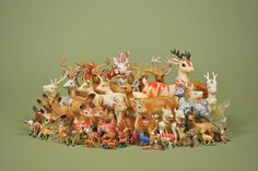 Wonderful vintage deer collection by Somethingshidinginthere.