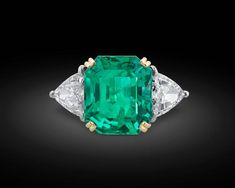 Colombian Emerald Diamond Gold Ring 2