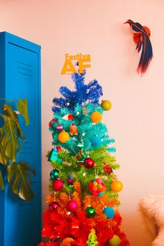 Colourful Christmas Tree | Rainbow Christmas Tree