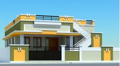 House Front Wall Design, Single Floor House Design, House Outside Design, Village House Design, Bungalow House Design, Small House Design, Modern House Design, Indian House Exterior Design, Kerala House Design
