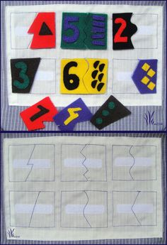 Matching number, colours and edges. A fantastic maths page. moje pasje. . .: * QUIET BOOK 4# / logic book