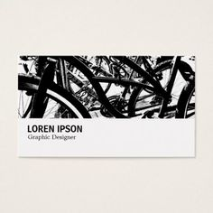 #modern - #Hi-Phi - 0193 - Bicycle Rack HC Business Card