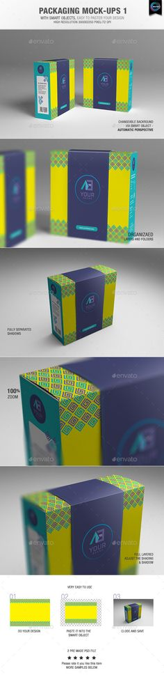 Packaging Mock-ups 1With smart objects, easyto paste your design02 Pre made psd file High resolution 30002250 pixel Changeable bac