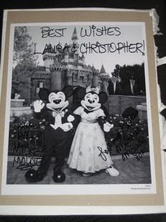 If you send Mickey and Minnie an invitation to your wedding, they'll send you an autographed photo! oh YES!  500 South Buena Vista Street  Burbank, California 91521