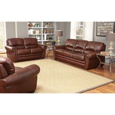 Costco: Manchester 3 Piece Leather Set