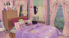 """yolo-sims: """"I made the Usagi house, but its not complete…need more ideas. Also, I got help for the outline by elexuslove! THank you! And my sister said tmrw Nenpy sims is releasing a luna P! So I can make Chibi Usa a room and Tuxedo mask a room..."""