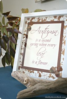 DIY #fall printable