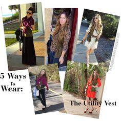 5 ways to wear a green utility vest (AKA cargo vest) #styling #tip