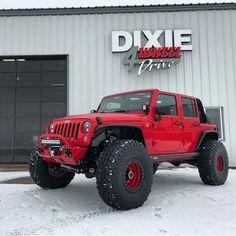 Save by Hermie Red Jeep Wrangler, Jeep Rubicon, Jeep Jk, Jeep Truck, Jeep Wrangler Unlimited, Jeep Wranglers, Jeep Brand, Badass Jeep, Custom Jeep