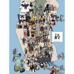New York Movie Locations Map