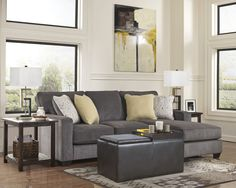 This Cozy E Features A Simple And Direct Cushion Backed Sectional Couch With Built In