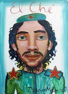 """Che Guevara 6"" , acrílico sobre papel, 25x 35 cm.2017"