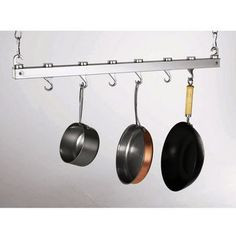 Concept Housewares' Ceiling Mounted chrome pot rack is an eye-catching addition to any kitchen. With the pot rack's many features, such as a dual track system and cast aluminum hooks, it is the ideal finishing touch for your kitchen. This pot rack comes with all the hardware required for assembly and is simple to install.