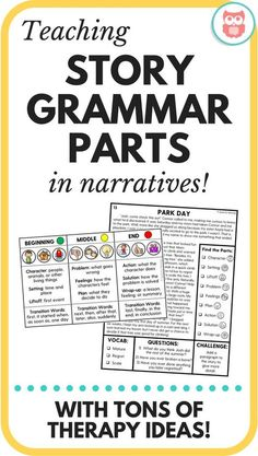 Teaching Story Grammar Parts in Narratives | Speechy Musings