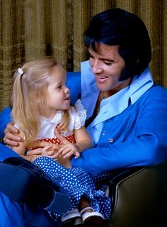 ELVIS PRESLEY AND PRISCILLA LOVE HISTORY — Elvis Presley and Lisa Marie.