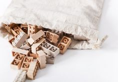 Wooden Lego bricks