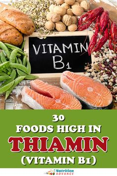 Which foods offer the most vitamin B1? Here are 30 foods high in thiamin. #vitamins #nutrition #thiamin