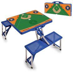 Houston Astros Field Portable Picnic Table - Blue - $144.99