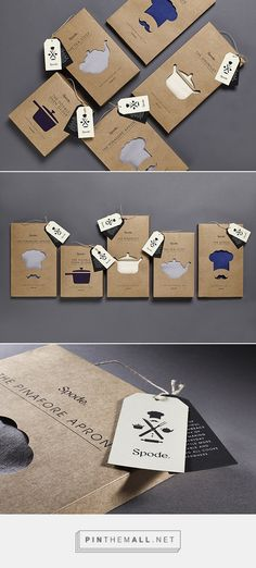 die cut kraftt paper design packaging Spode Kitchen Textiles by 10 Associates Branding And Packaging, Cool Packaging, Tea Packaging, Paper Packaging, Print Packaging, Design Packaging, Web Design, Creative Design, Typography Design