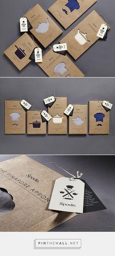 die cut kraftt paper design packaging Spode Kitchen Textiles by 10 Associates Branding And Packaging, Cool Packaging, Paper Packaging, Coffee Packaging, Print Packaging, Design Packaging, Web Design, Creative Design, Typography Design