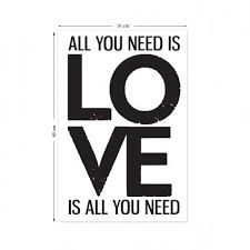 All You Need is Love Wall Sticker Wall Stickers Red, Love Wall, Red Candy, All You Need Is Love, The Beatles, Inspirational Quotes, Letters, Hero, Report Cards