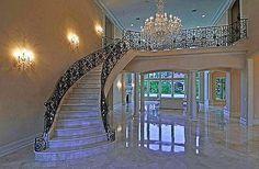 White marble staircase...