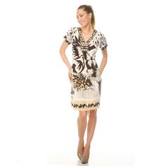 @Overstock - Add an artsy print to your day dress collection with this ultra-chic White Mark dress. This dress features dramatic sleeves, a self-tie at waist, and a plunging neckline.  http://www.overstock.com/Clothing-Shoes/Womens-White-Mark-Paris-Day-Dress/6986131/product.html?CID=214117 $27.49