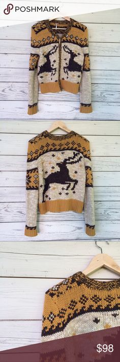 Free People Rudolph Cardigan Sweater Free People Rudolph Cardigan Sweater. Awesome knit sweater in excellent used condition, minimal pilling. 2 way full zip closure. Free People Sweaters Cardigans