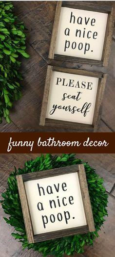 Have a Nice Poop sign | Bathroom Wall Decor | Farmhouse Bathroom Sign | Funny Bathroom Humor | Farmhouse Sign | Bath Sign | Kids Bathroom | #etsy | #bathroomdecor | #rusticdecor | #farmhouse | #funny  | #wall | #decorate | #forthehome | #kids | #funnydecor | #kidsbathroom | #rusticdecor | #poop
