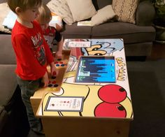 A DIY Arcade Table powered by Raspberry Pi Pi Arcade, Retro Arcade, Arcade Games, Arcade Game Console, Arcade Table, Diy Deco Rangement, Borne Arcade, Arcade Joystick, Educational Robots