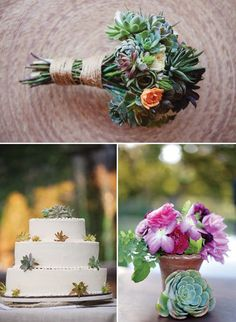 A Succulent Wedding - Photo Credit: This Modern Romance