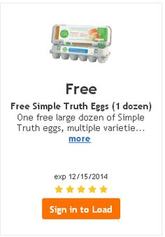 Free Simple Truth Eggs at Ralphs.  Add the digital coupon to your Ralphs card. Expires 12/15.