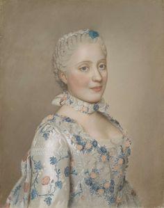 Portret van Marie Josephe van Saksen (1731-67), dauphine van Frankrijk, Jean-Etienne Liotard, 1749