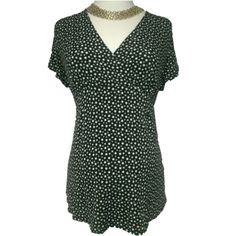 Oh Baby Black & White Dotted Slinky Top