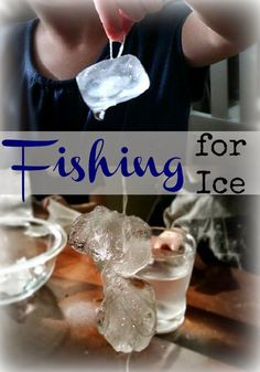 Fun, easy, and quick science experiment for kids of all ages. Learn how salt melts ice, go fishing, and