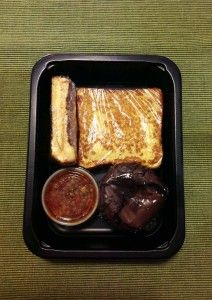 Diet-to-Go grilled cheese, chili and a brownie.