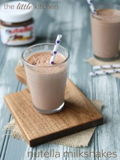 Nutella Milkshakes....Might could try this with some substitutions.