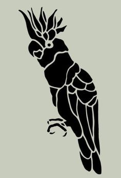 Image size: 10 x 5 Inches Need this in a different size? Just send us an email. Professionally cut from durable ml mylar and can be used over and over. Bird Stencil, Animal Stencil, Stencil Art, Stencil Designs, Stencils, Macrame Wall Hanging Diy, Creative Arts And Crafts, Creative Textiles, Intarsia Woodworking