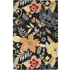 nice Country Hand-Looped and Tufted Floral Multi Rug - 8' x 10' Check more at http://yorugs.com/shop/country-hand-looped-and-tufted-floral-multi-rug-8-x-10-2/