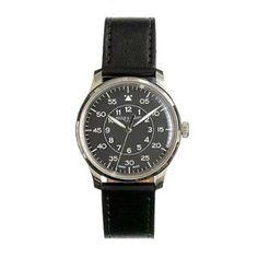 Mougin & Piquard™ for J.Crew Grande Seconde watch in black - watches & watch straps - Men's accessories - J.Crew