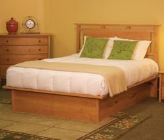 Mendon Storage Bed. From Pompanoosuc Mills. American hardwood furniture. Hand crafted in Vermont.