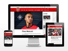 Arsenal's new website